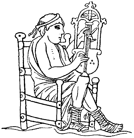 Britannica Crowd 9th Century Crwth