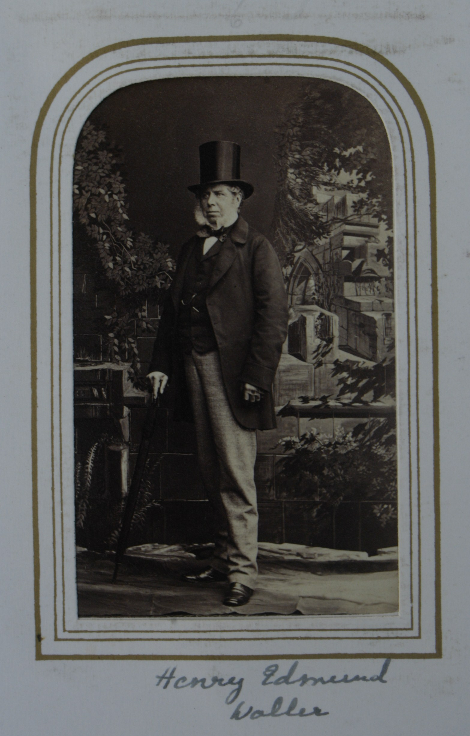 FileCarte De Visite Standing With Top Hat Of Harry Edmund Waller JP DL 1804 69 Farmington And Kirkby Fleetham