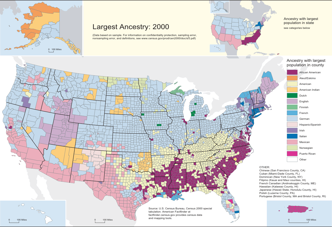 FileCensusDataTopUSAncestriesbyCountyxpng - Wikimedia commons us maps most popular