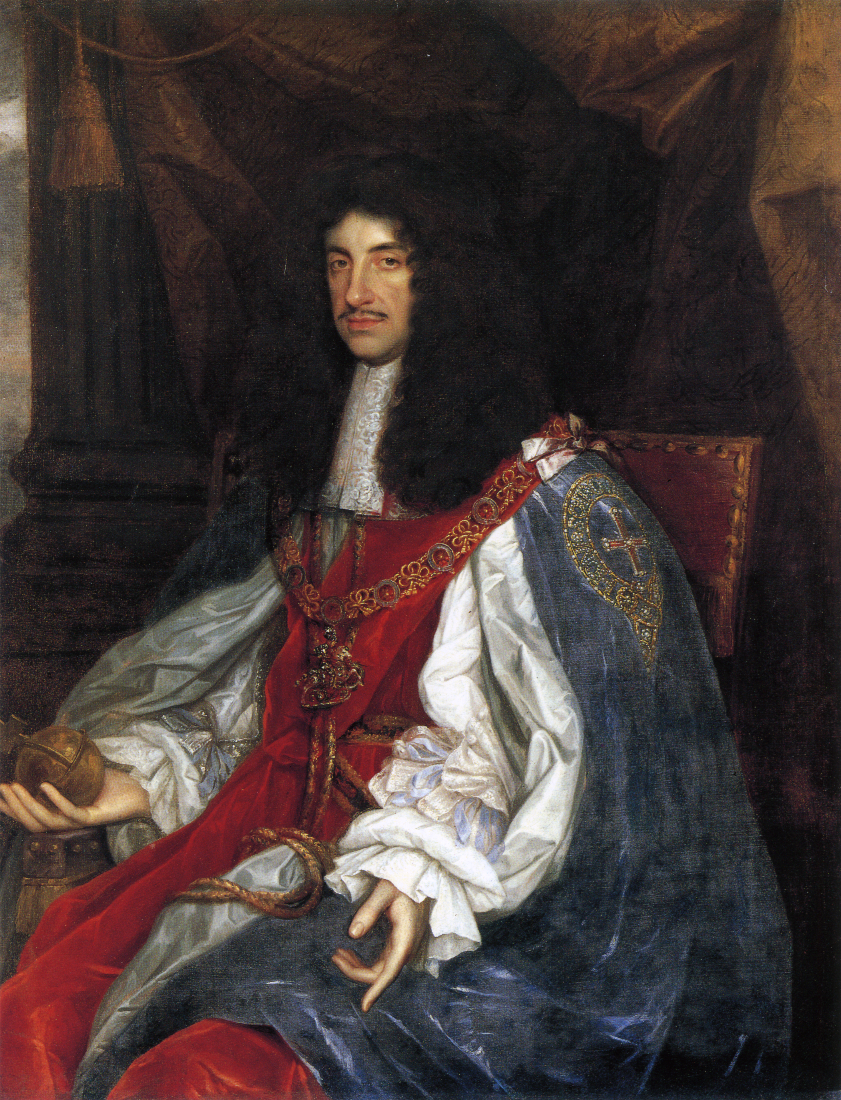 File Charles Ii In Garter Robes Png Wikimedia Commons