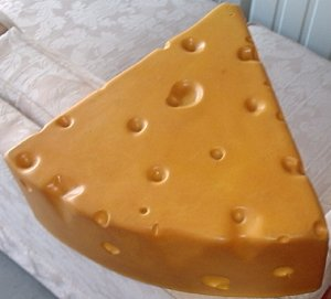 A cheesehead hat, commonly worn by many Packer fans Cheesehead.jpg