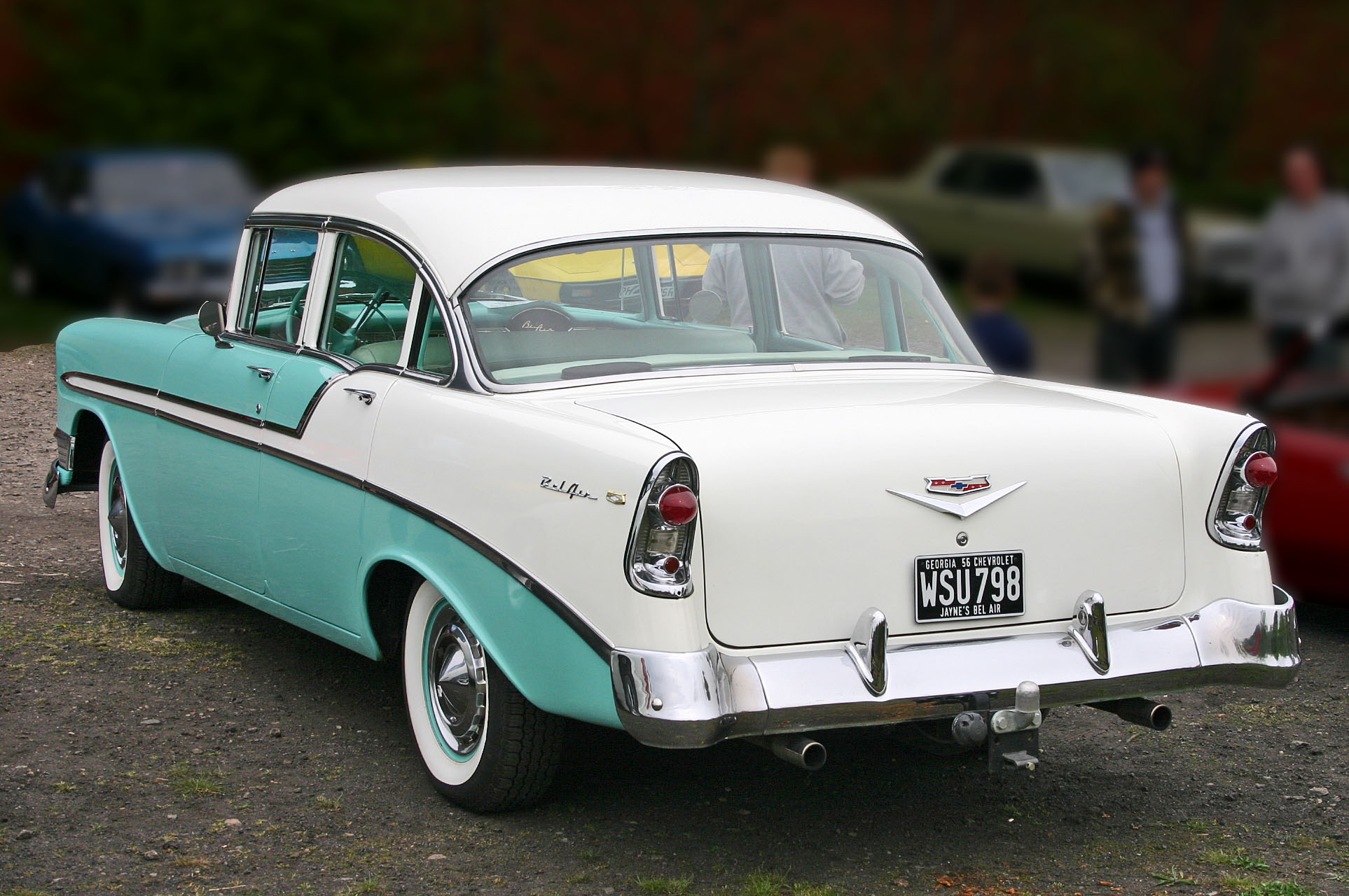 File Chevrolet Bel Air 1956 4door Sedan Rear Jpg Wikimedia