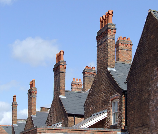 File Chimneys In London Place Wolverhampton Geograph