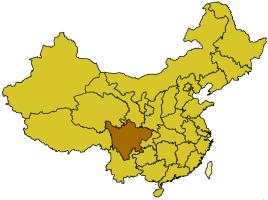Localización de la provincia de Sichuan.