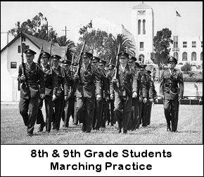 Students marching