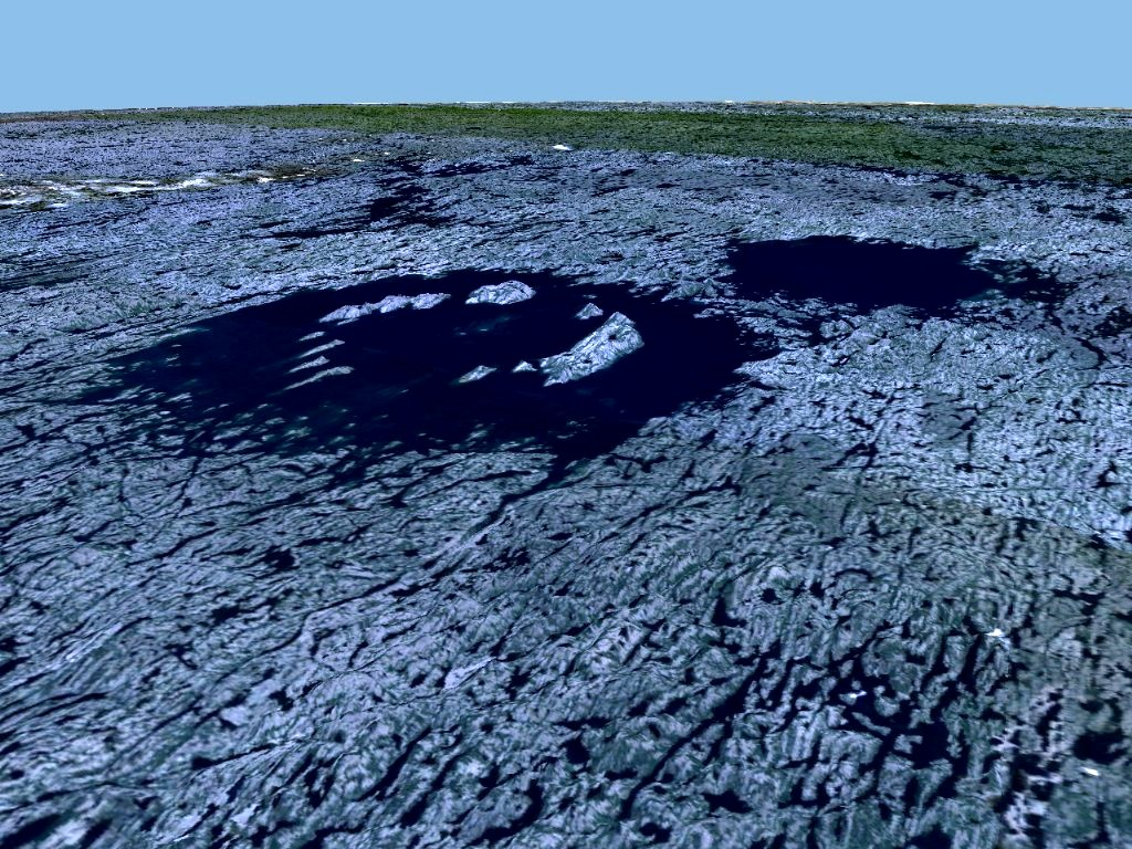 Geocoding images created with WorldWind