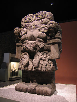 The Coatlicue statue in the National Museum of Anthropology. Coatlicue.jpg