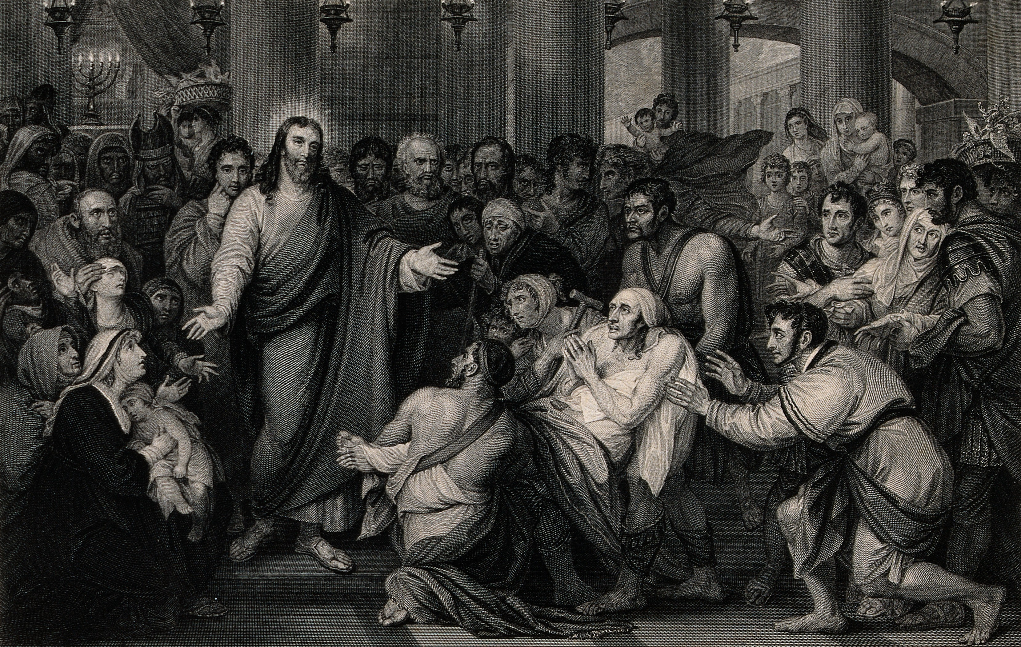 Crowds_gather_as_Christ_heals_the_sick._Engraving_by_T._Phil_Wellcome_V0034932.jpg (3318×2103)