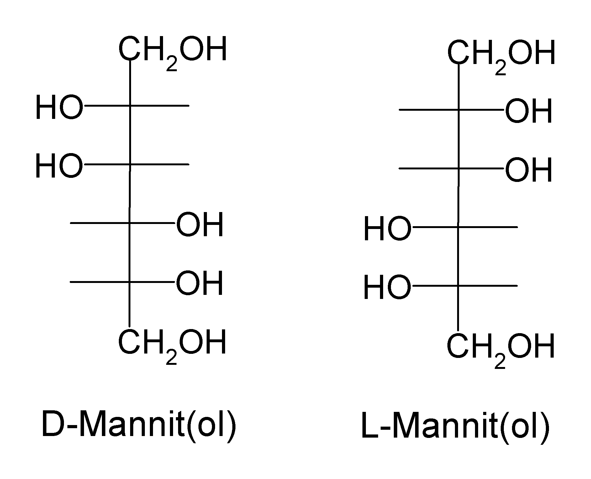 how to tell l and d glucose
