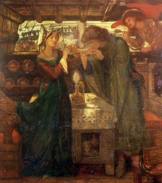 File:Dante Gabriel Rossetti - Tristram and Isolde Drinking the Love Potion.jpg