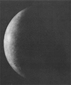 Distant view of Mercury from Mariner 10