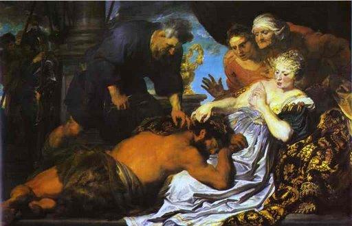 Samson et Dalila, Sir Anthony van Dyck, v. 1630