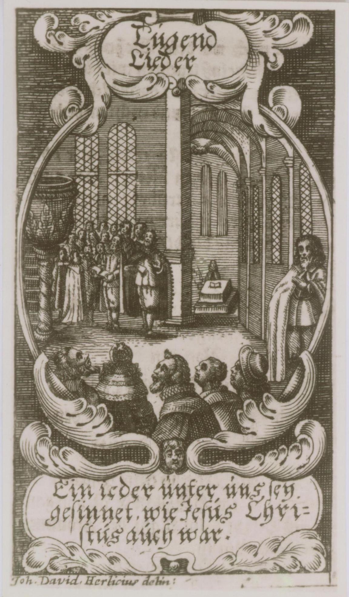 Página del <em>Neues vollständiges Eisenachisches Gesangbuch</em>, el himnario luterano que estaba en uso en el Eisenach de la juventud de Bach.
