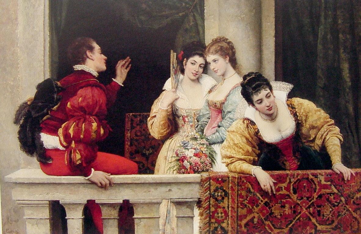 Eugen de Blaas On the balcony.jpg
