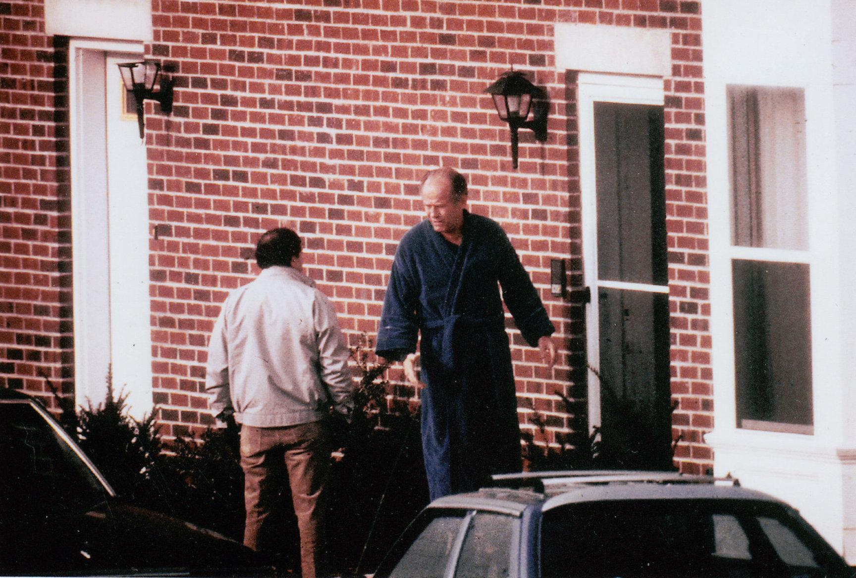 FBI surveillance photograph of Flemmi (left) with Winter Hill Gang boss, James Bulger (right) c. 1980s.