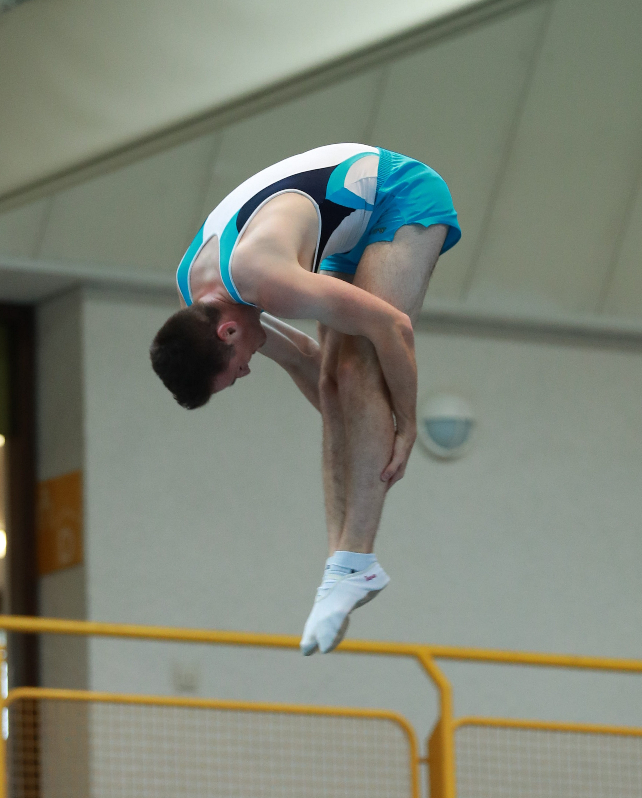 Internationalen Filder Pokal im Trampolinturnen 2018 in Ruit. Abgebildet: Moritz Best. Date 30 June 2018 Source Own work Author Martin Rulsch, Wikimedia Commons
