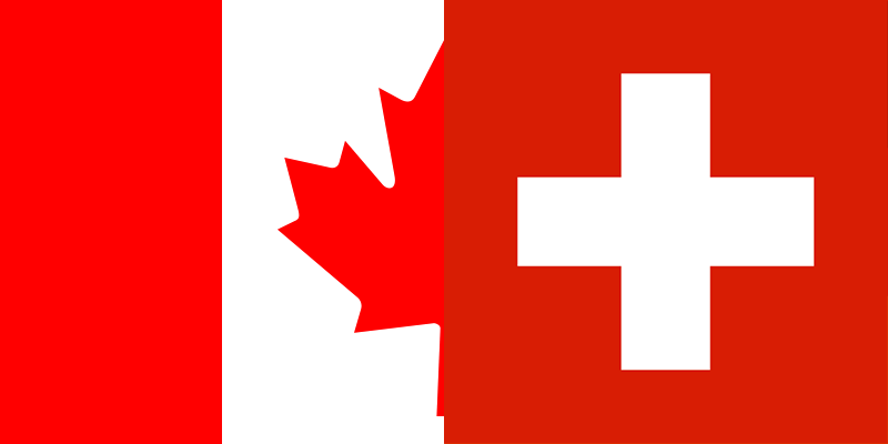 how to call switzerland from canada