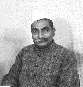 Food Minister Rajendra Prasad during a radio broadcast in Dec 1947 cropped