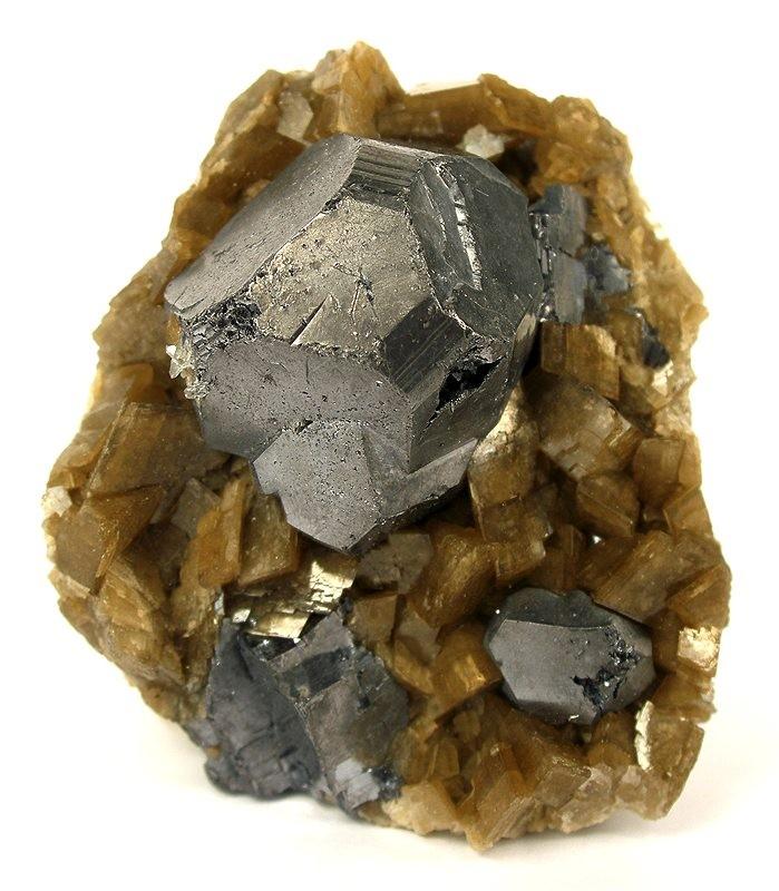 Siderite File:galena-siderite-189208.
