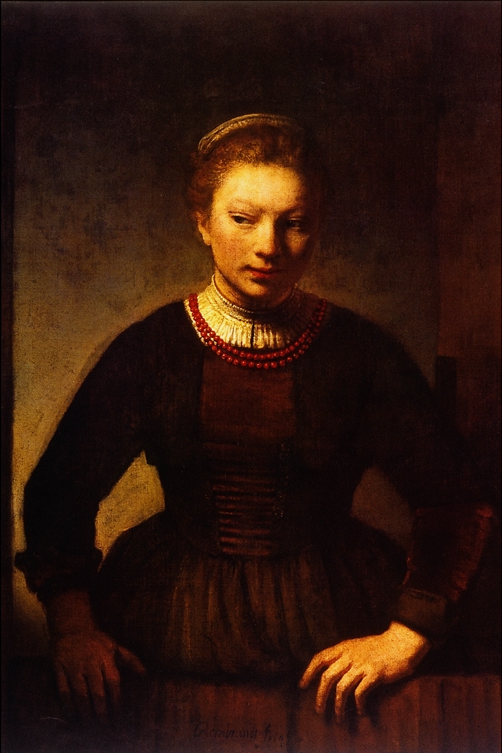 file girl at an open half door rembrandt harmenszoon van rijn  file girl at an open half door rembrandt harmenszoon van rijn png