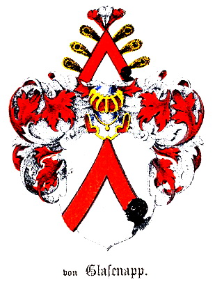 Coat of arms of Glasenapp family.