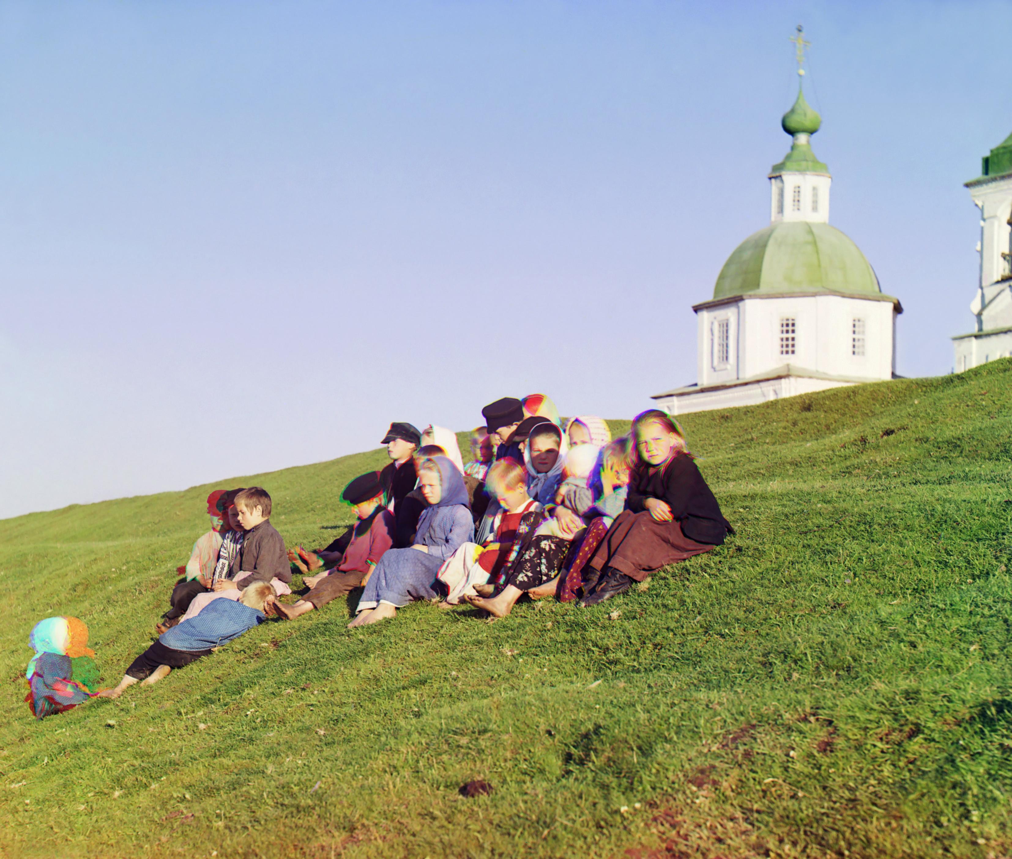 groupofussianchildren,1909.ergeyrokudin-orskyergeiikhailovichrokudin-orskii.