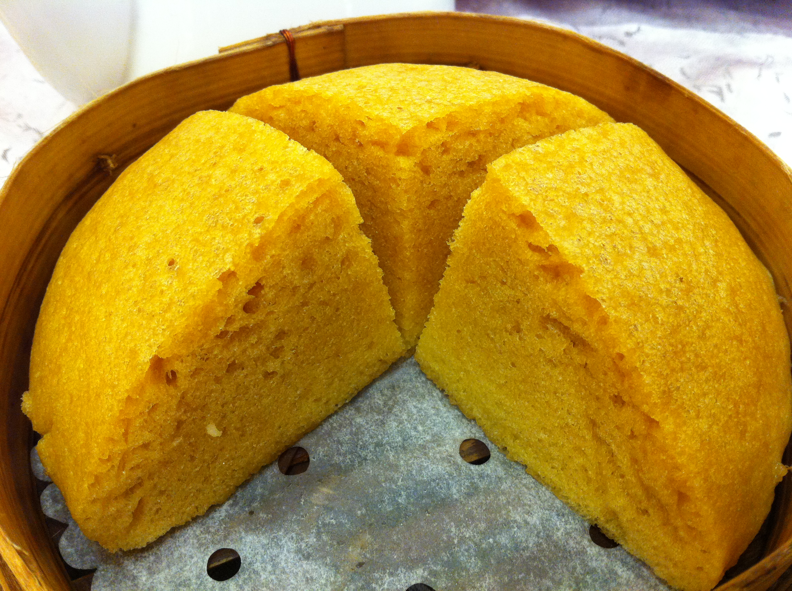Chinese Steamed White Sugar Cake Recipe