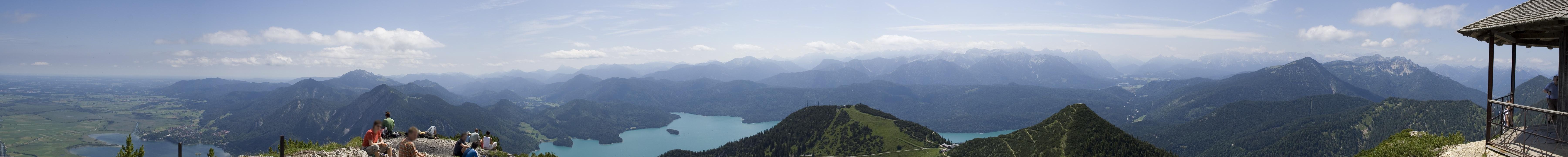 Панорама Альп в Баварии