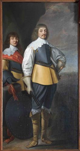 Honthorst - Portret van Johan Maurits en broer Johan Ernst van Nassau-Siegen, 1636, S07487