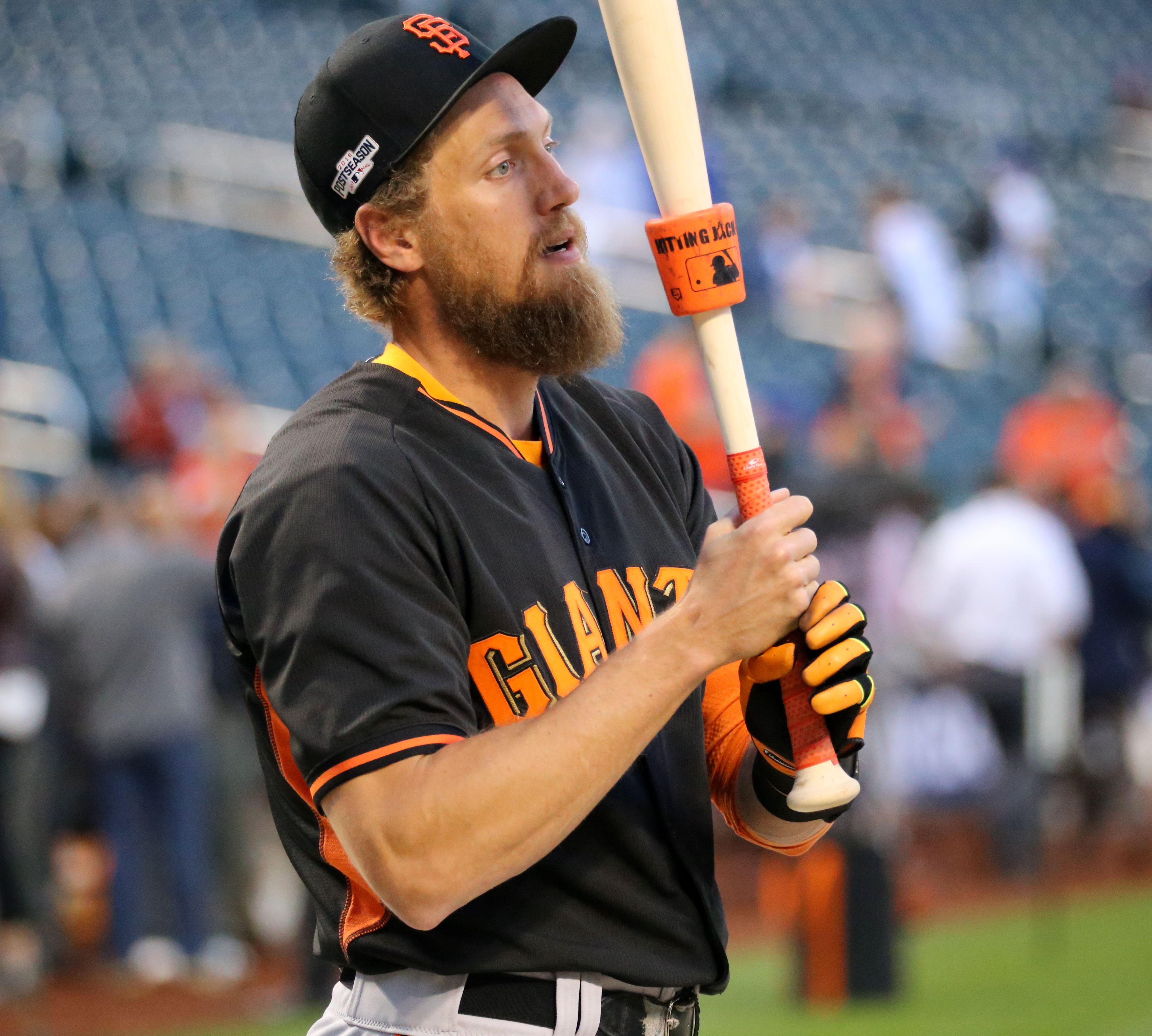 Filehunter Pence Works Before The 2016 Nl Wild Card Gamejpg