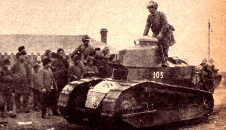 Japanese Renault tank in Manchuria, 1931