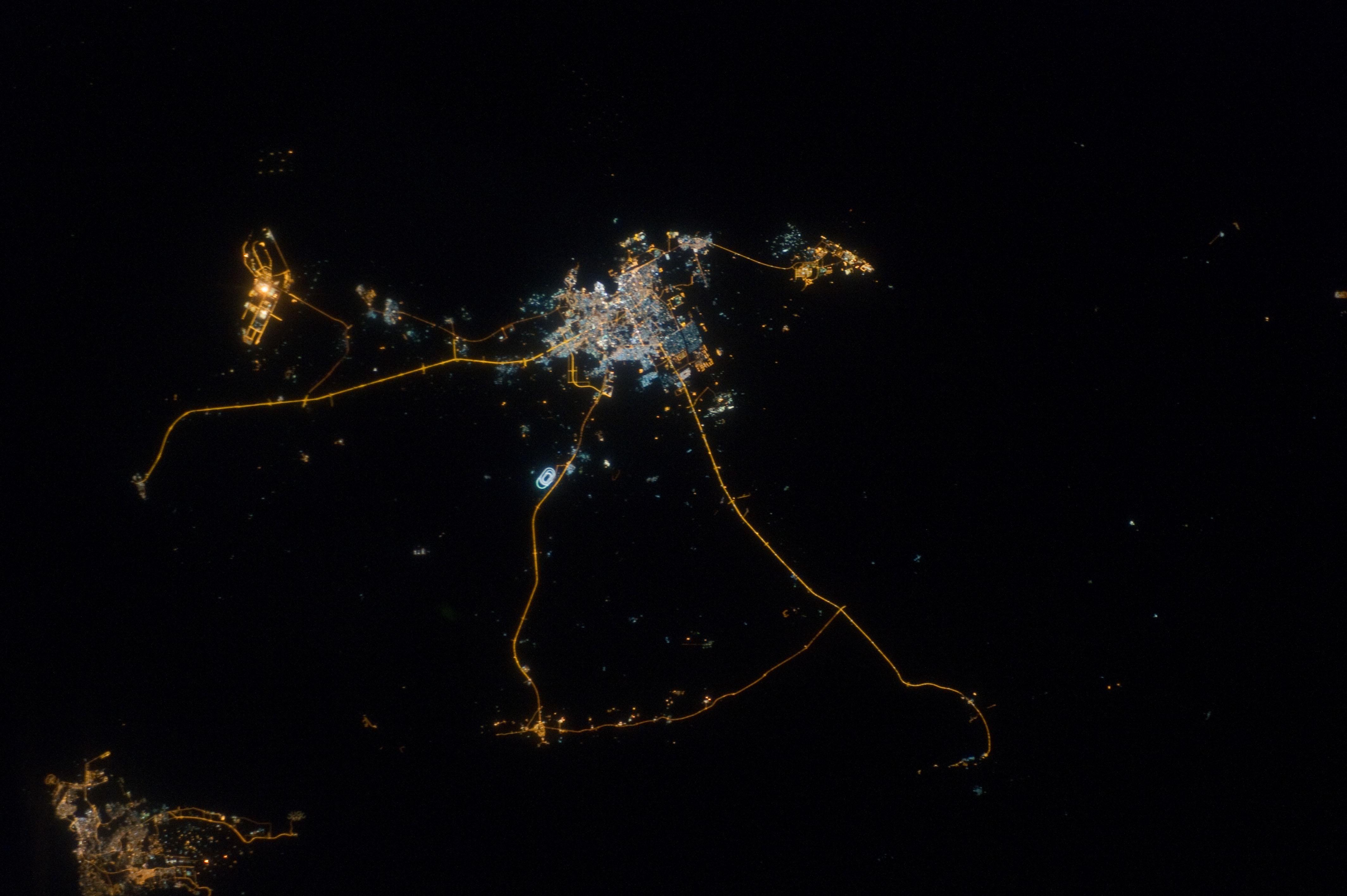 nasa usa at night