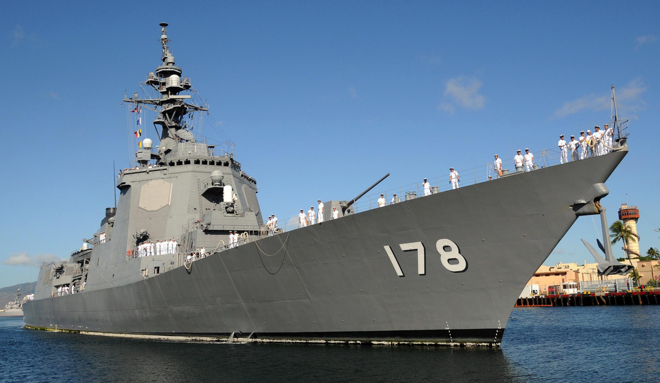 File:JS Ashigara, DDG-178 at Naval Station Pearl Harbor.jpg