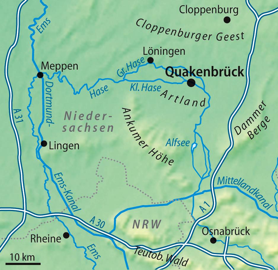 Artland Region Wikipedia - Quakenbruck germany map