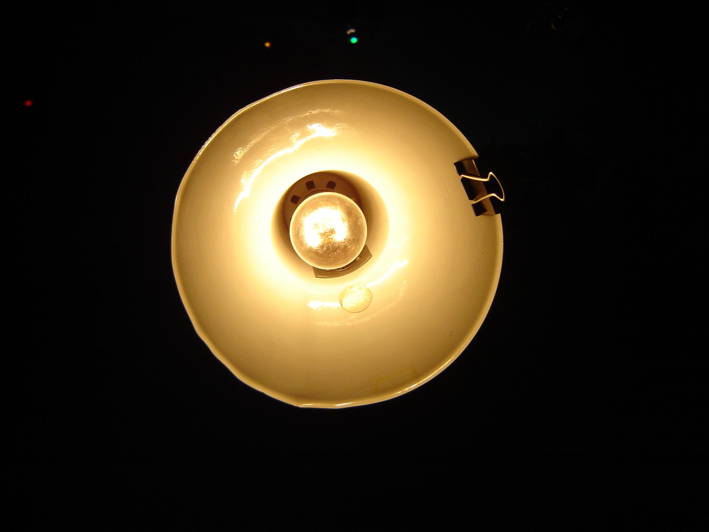 Dark room with light bulb - File Lamp In Dark Room Jpg