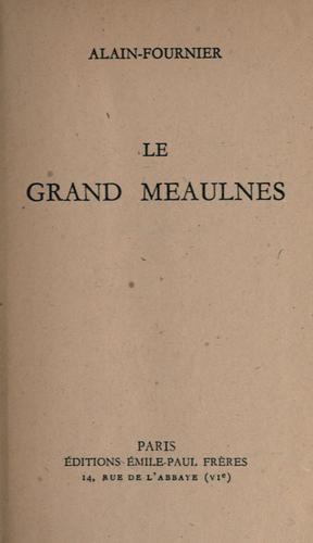 Le Grand Meaulnes cover