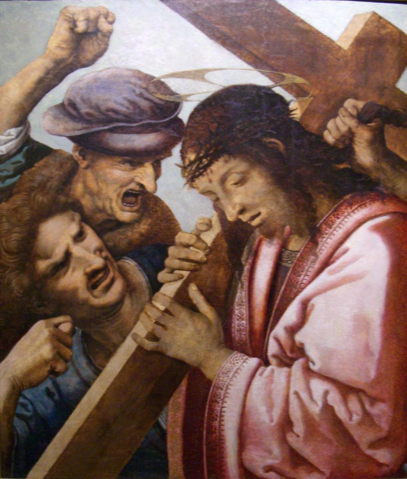 File:Leonardo da Vinci (attrib) - Christ carrying the ...