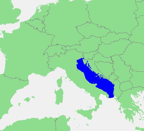 Locatie Adriatische zee