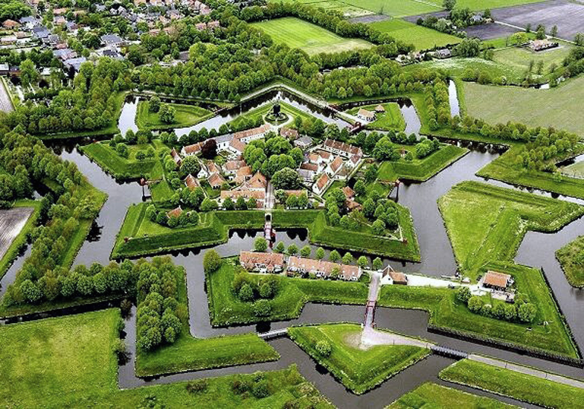Luchtfoto bourtange