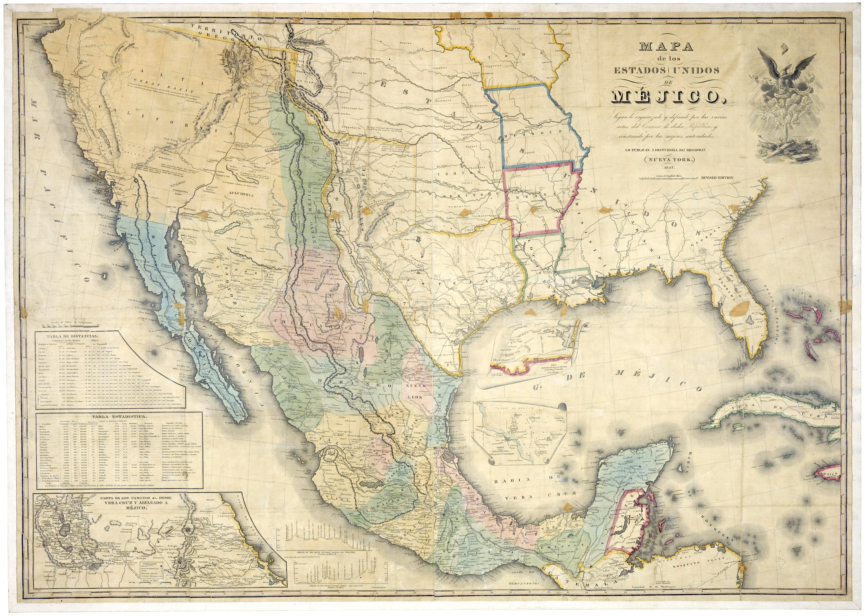 FileMap of Mexico 1847jpg Wikimedia Commons
