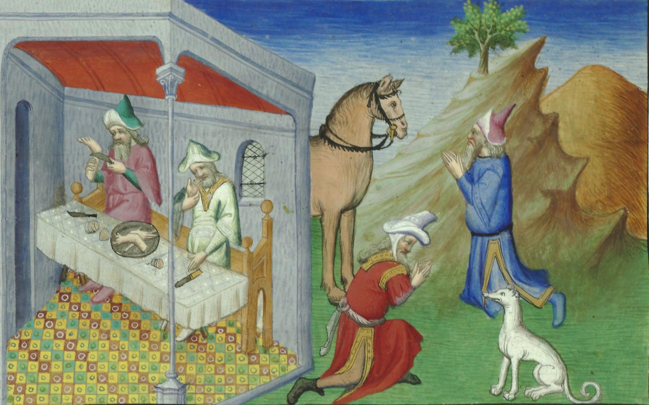 Cannibalism, Le Livre des merveilles de Marco Polo. Paris, Bibliothèque Nationale