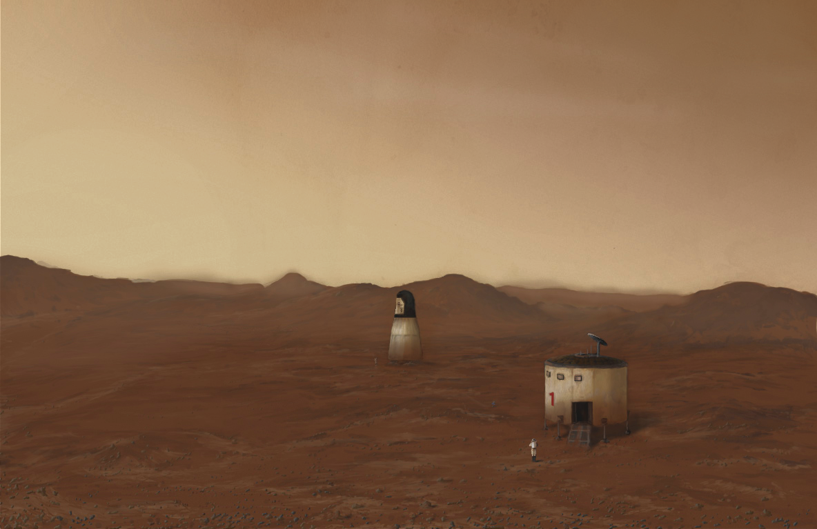 Mars Direct base artist impression - N. Oberg