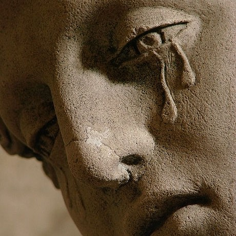 Mary Magdalene Crying Statue