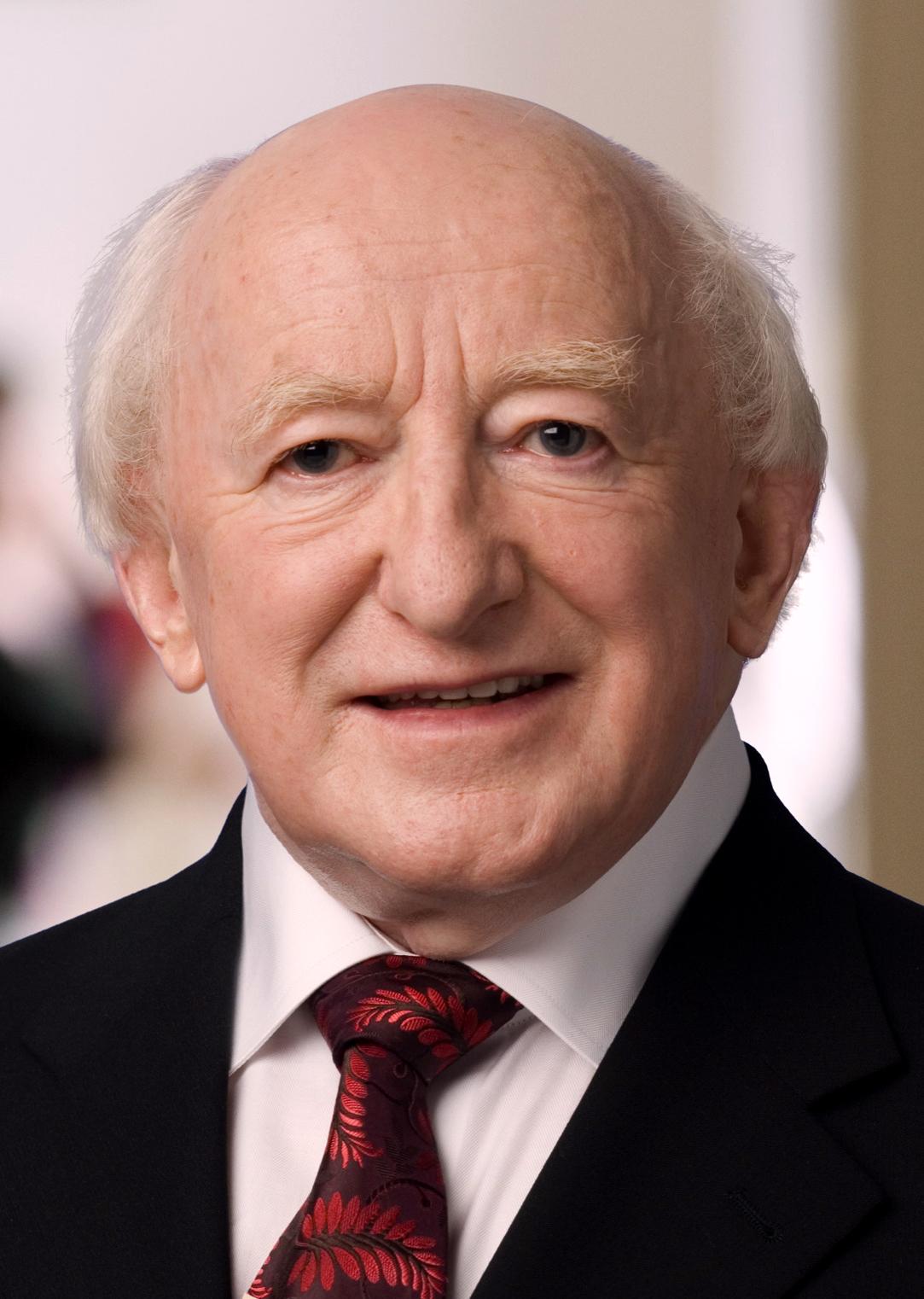 Depiction of Michael D. Higgins
