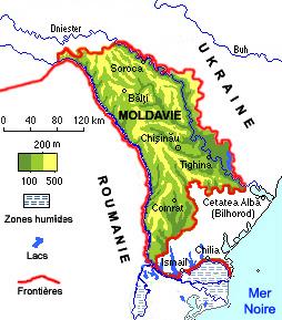 Moldavie carte géographique