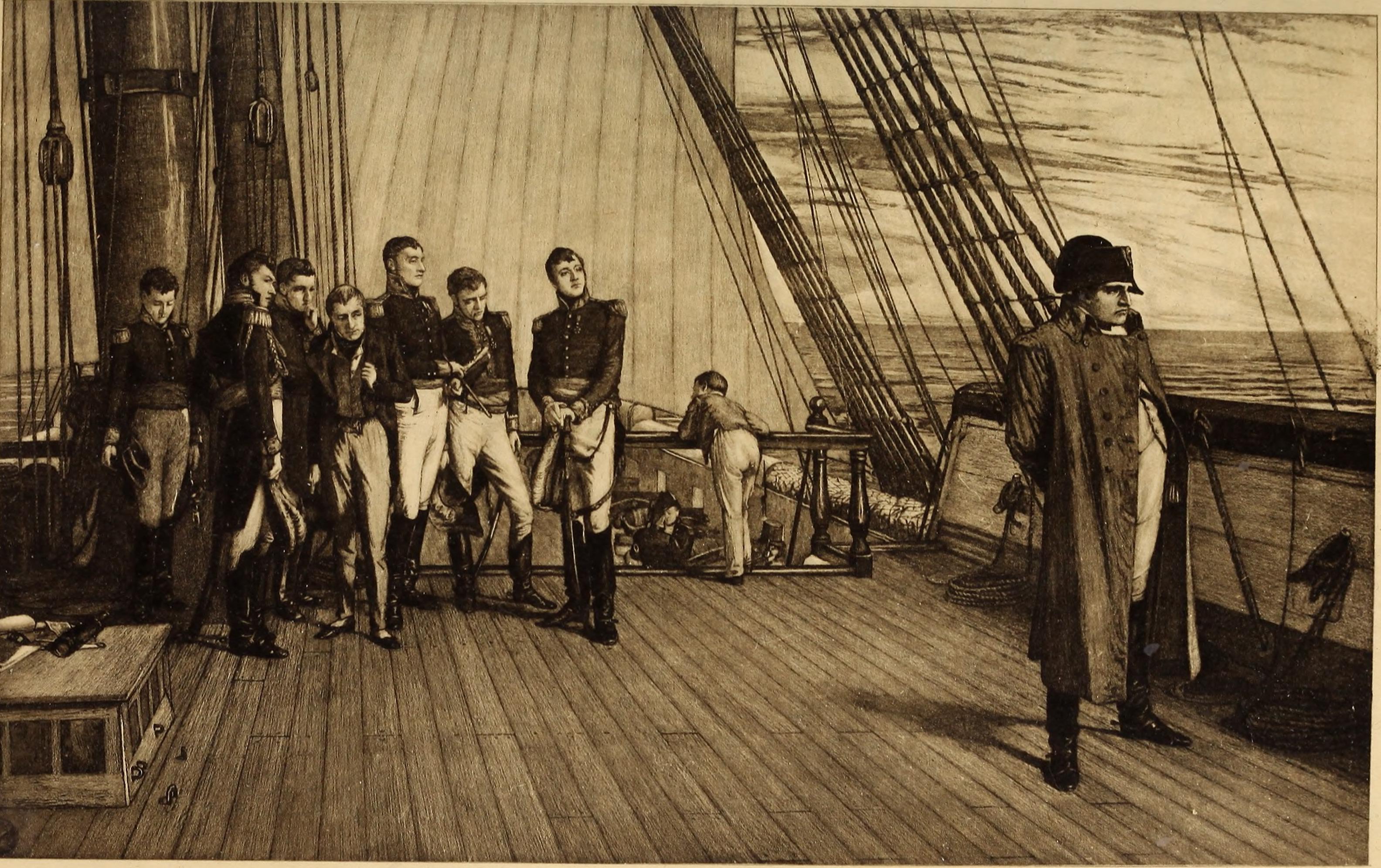 File:Napoleon Bonaparte on board the British ship Bellerophon.jpg -  Wikimedia Commons