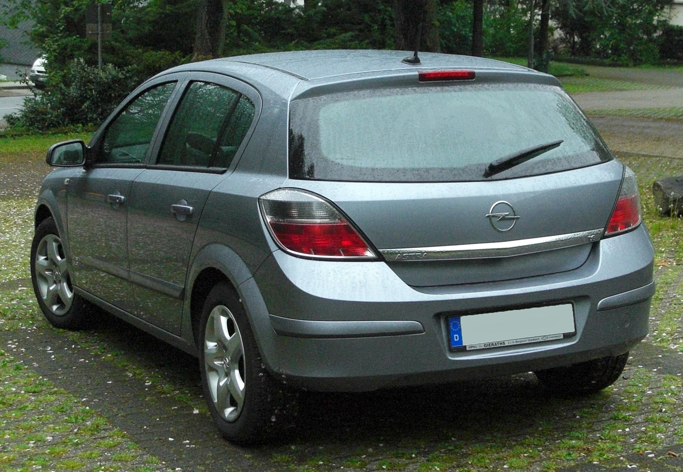 File Opel Astra H 1 6 Facelift Rear 20100512 Jpg Wikimedia Commons