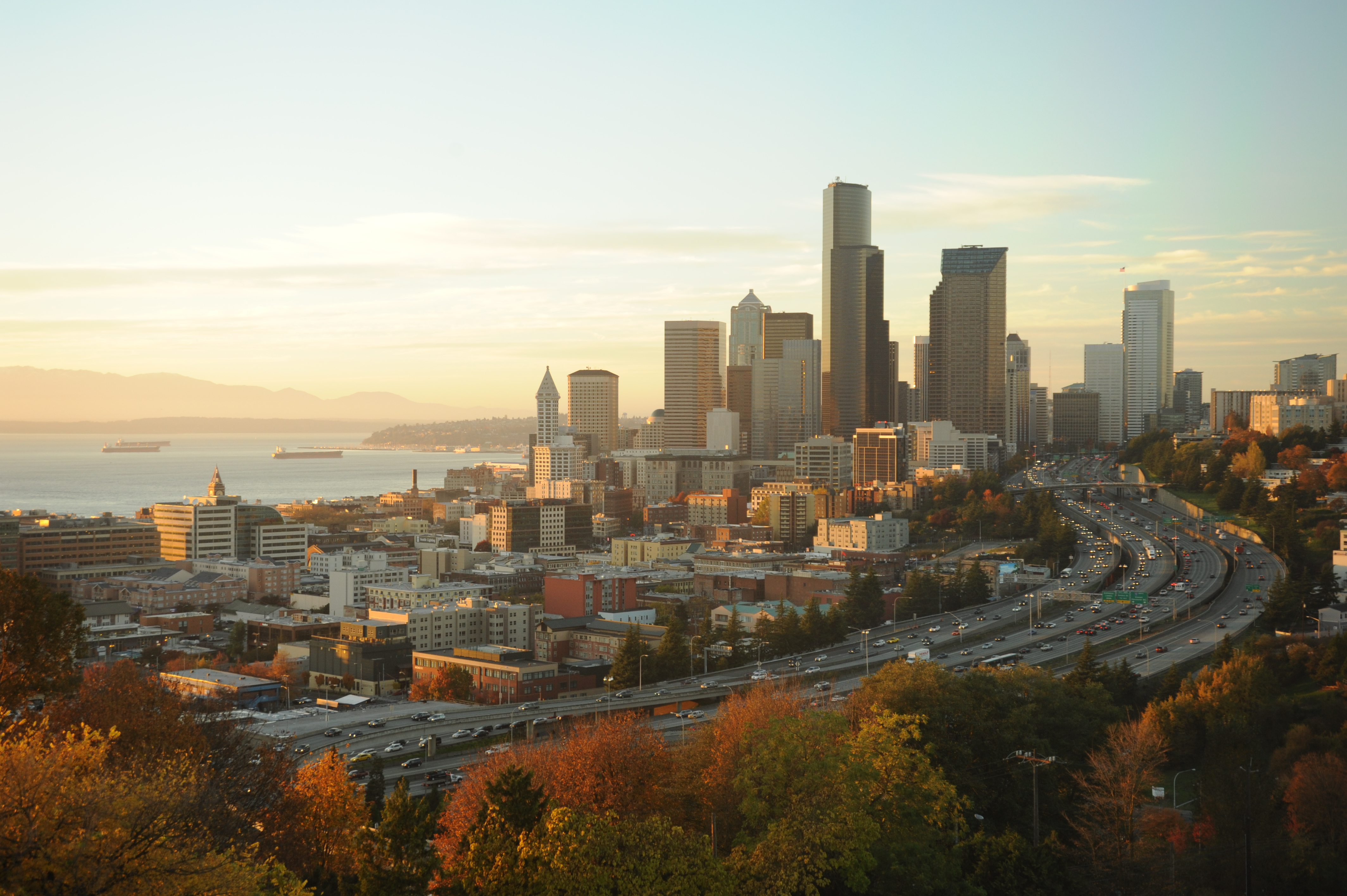 File Our Gleaming City On The Hill Fall Trees Freeways Puget