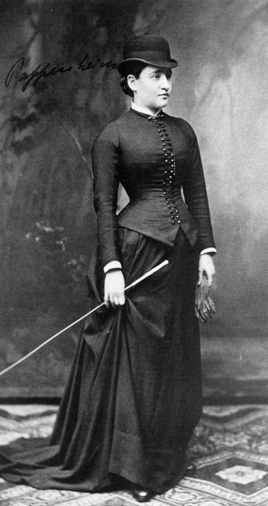 Berta Pappenheimová pri jej pobyte v sanatóriu v roku 1882