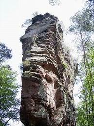 Buntsandsteinfels im Pfälzerwald (Luger Geierturm)